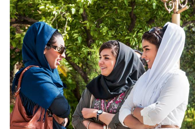 Mulheres em Shiraz, no Irã