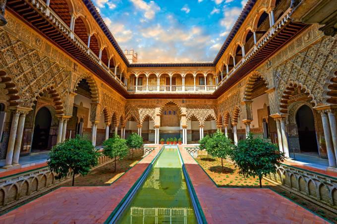 Pátio das Donzelas, Real Alcázar, Sevilha, Espanha