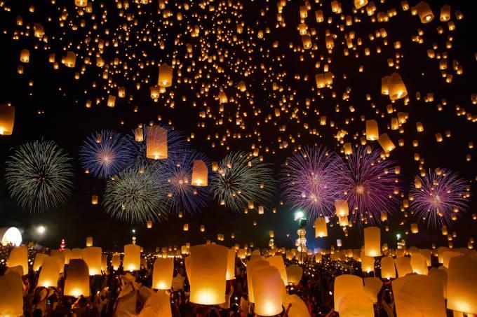 Festival de Lanternas na Tailândia