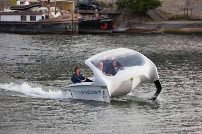 Barco futurista francês cem por cento ecológico