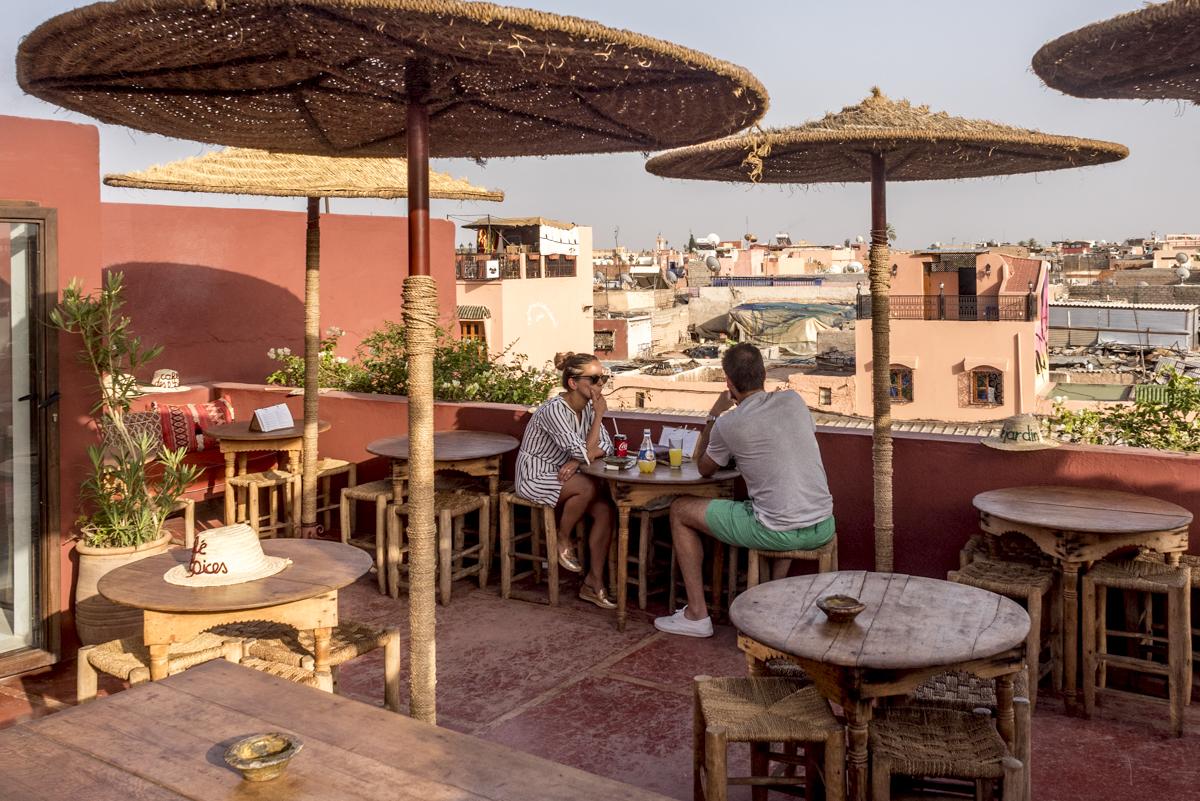 O rooftop do Cafe des Epices: bela surpresa
