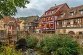 Cidade de Kaysersberg, na Alsácia, França, eleita a favorita dos franceses em 2017