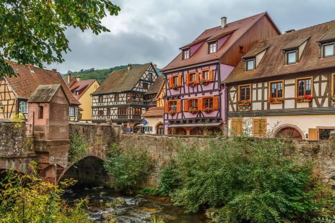 Cidade de Kaysersberg Alsácia França