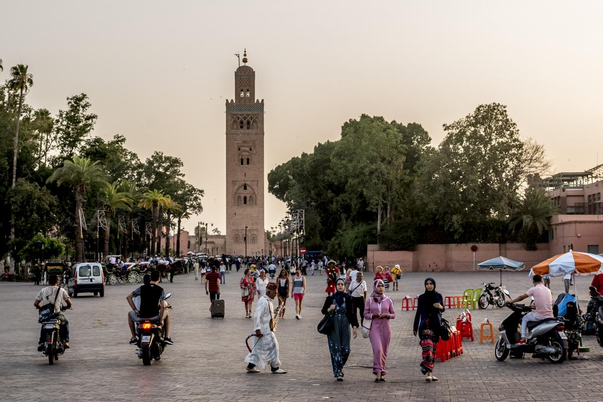 O minarete da Mesquita Koutoubia: monumento do século 12