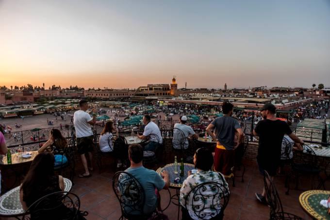 Praça Jemaa-el-Fna, Marrakesh, Marrocos