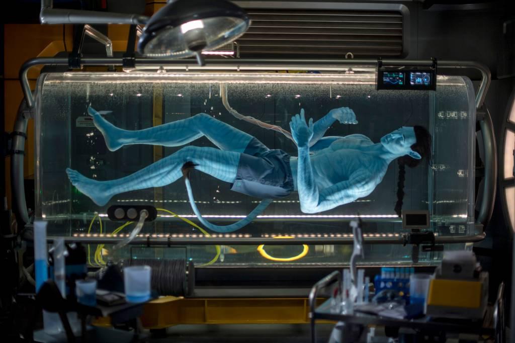 Antes de se transformar em um Avatar e se conectar com o seu Banshee, você passa pelos laboratórios...