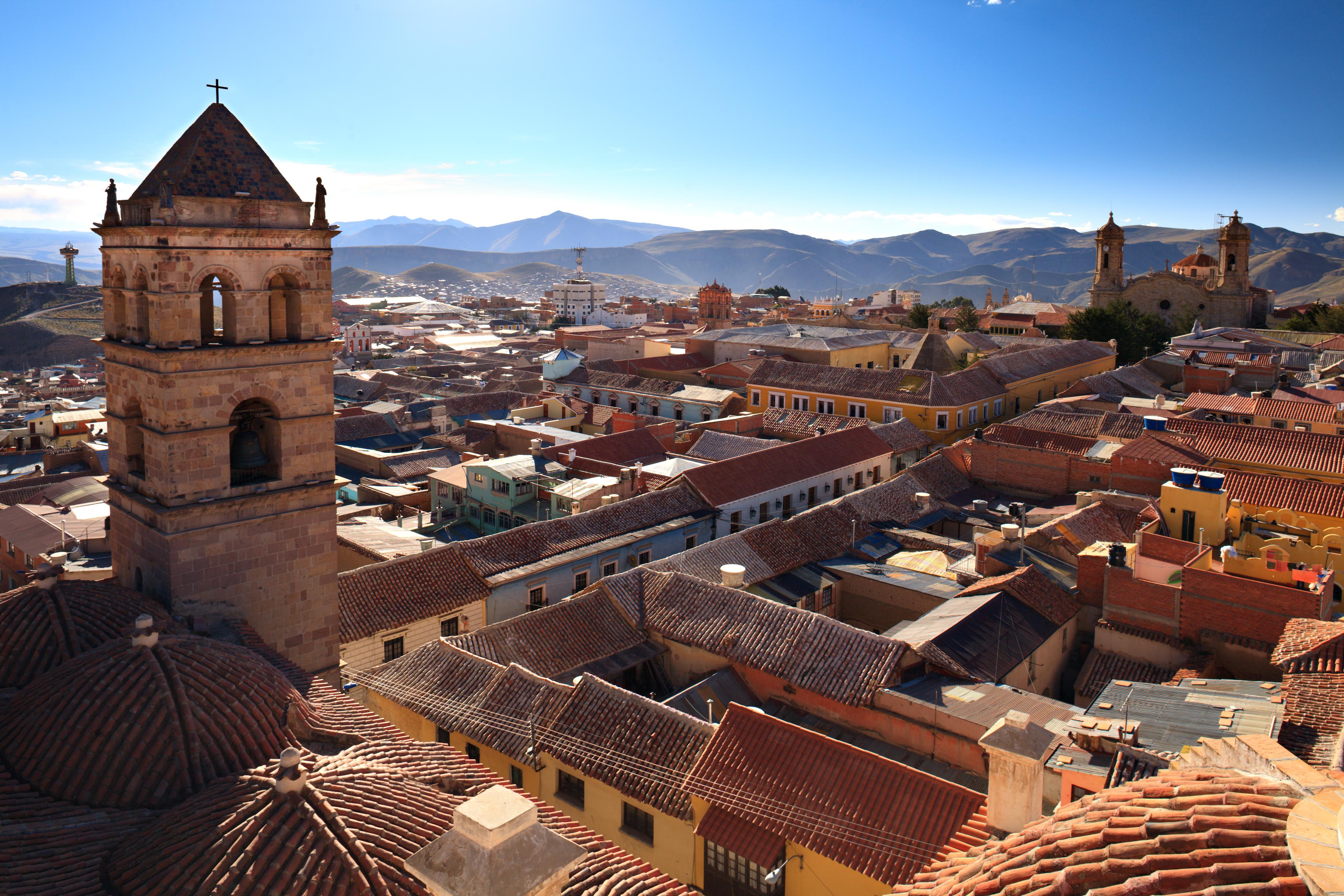 Potosi na Bolivia Rooftops