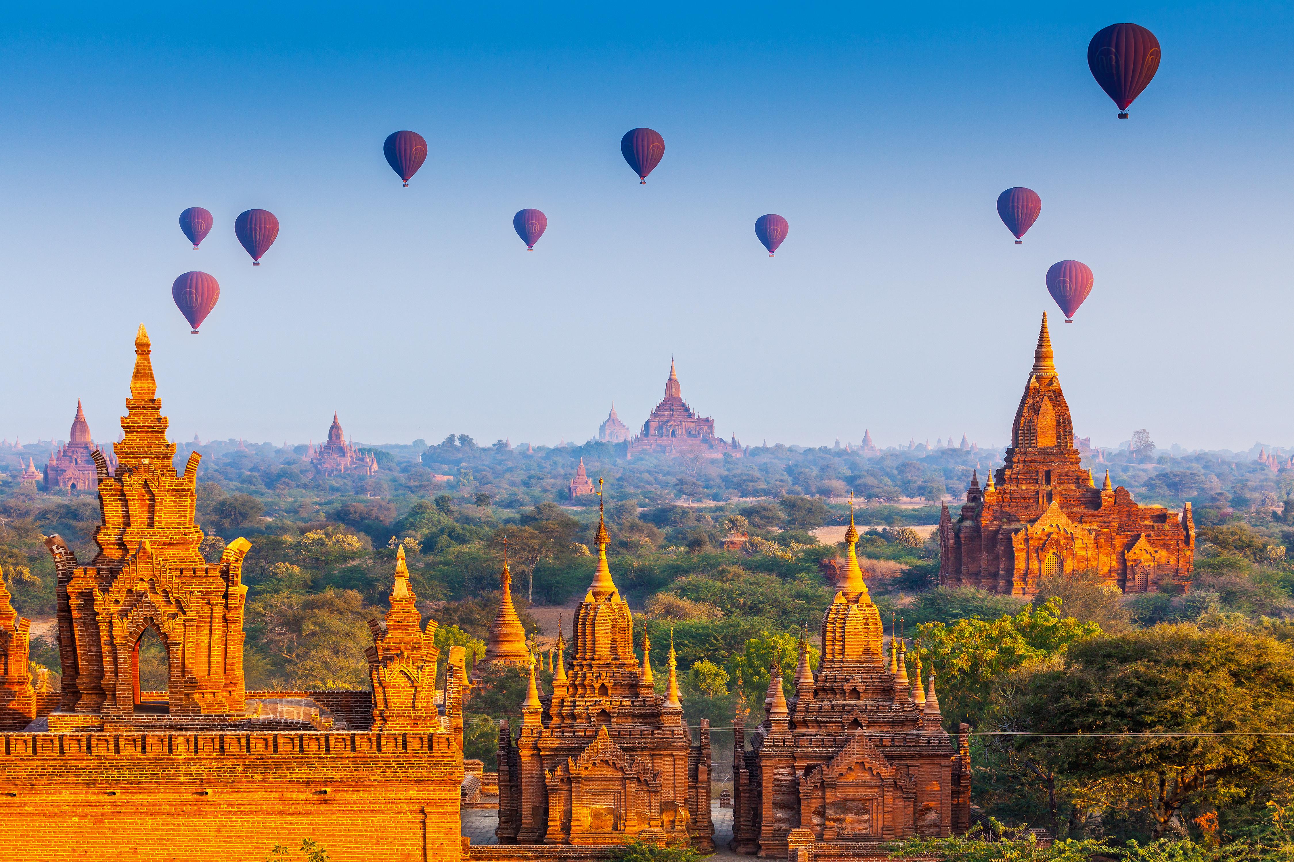 Templos em Bagan, Myanmar