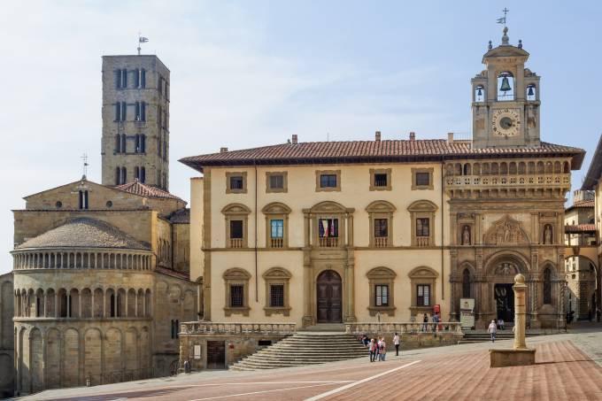 Piazza Grande, Arezzo, Itália, Toscana