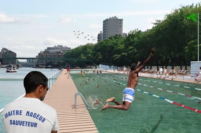 piscina Rio Sena – Bacia de La Villette