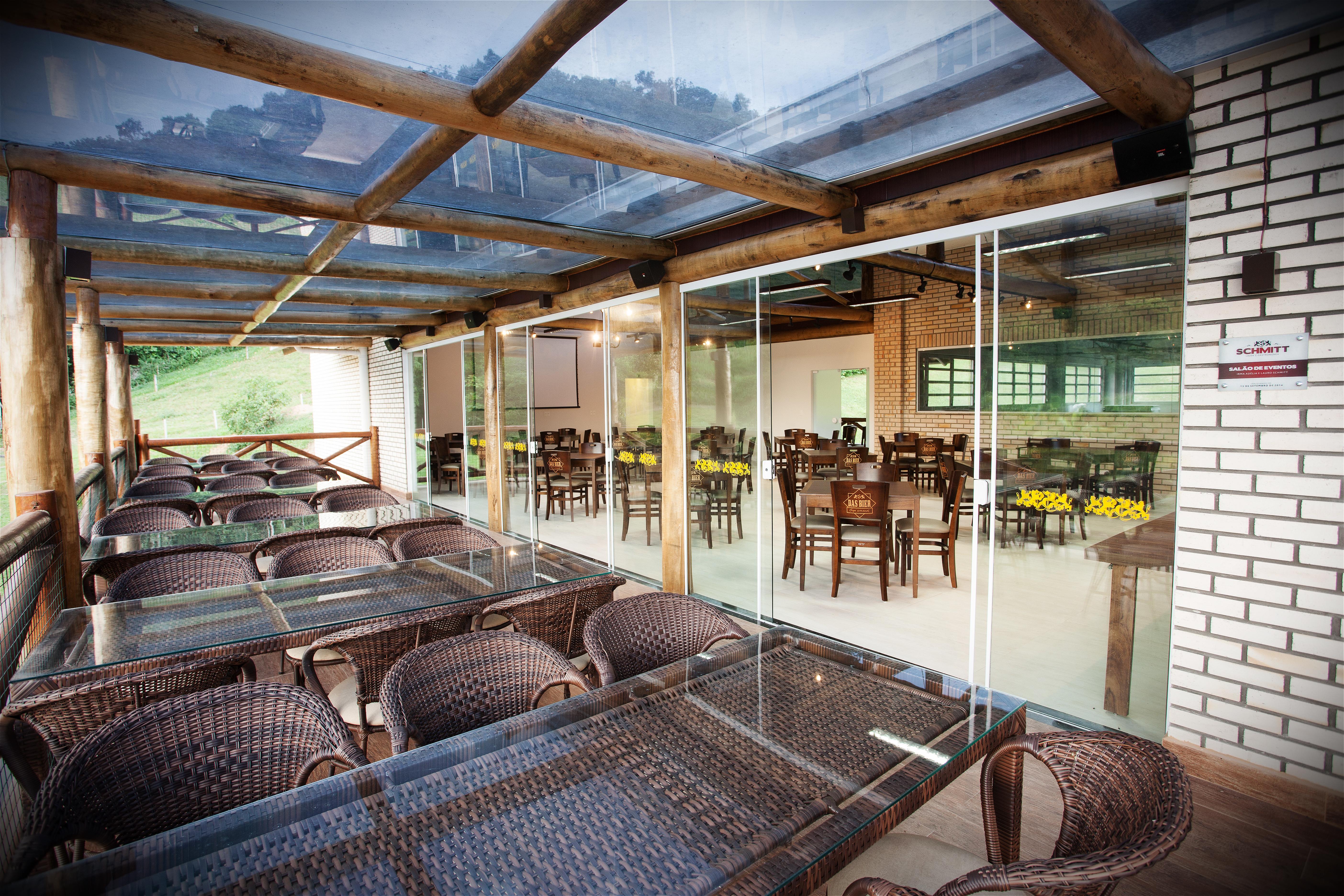 Vista do restaurante da Das Bier