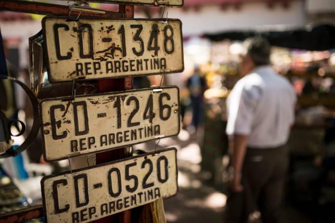 Market stall at the Feria de San Pedro Telmo, San Telmo, Buenos Aires, Argentina