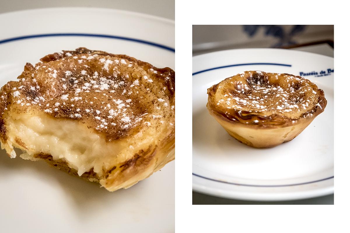 O pastel de Belém in loco: quentinho, massa crocante e recheio molinho