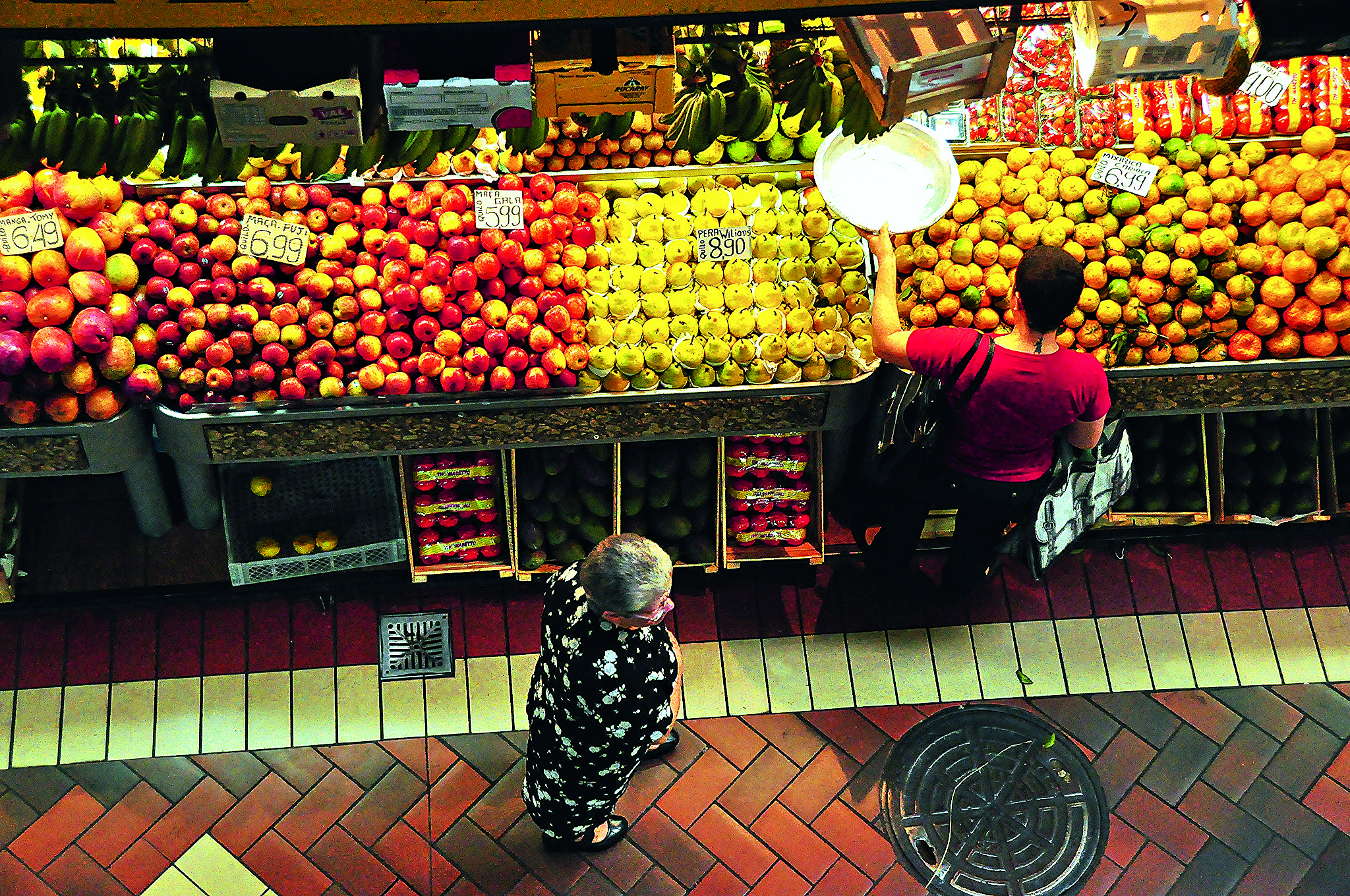 Barraca de frutas no Mercado Central, em Belo Horizonte