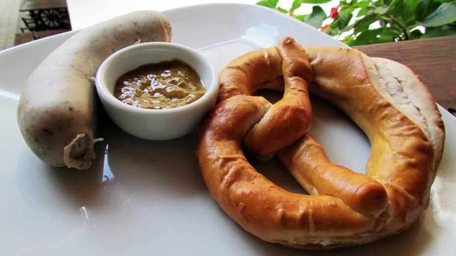 Bretzel é uma das iguarias que a Bier Vila vende na Oktoberfest