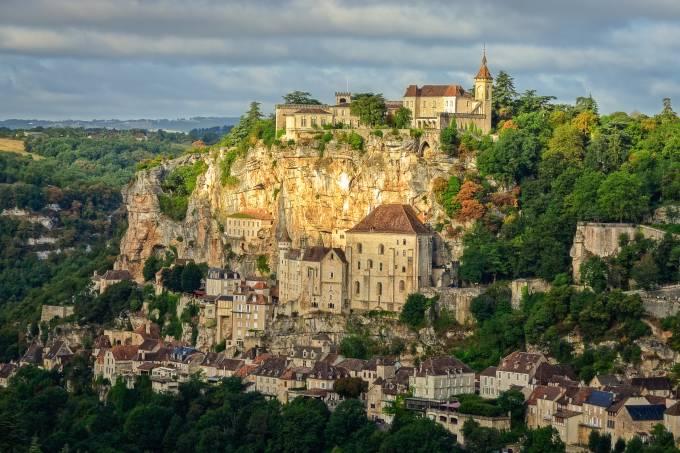 Cidade medieval de Rocamadour, na França