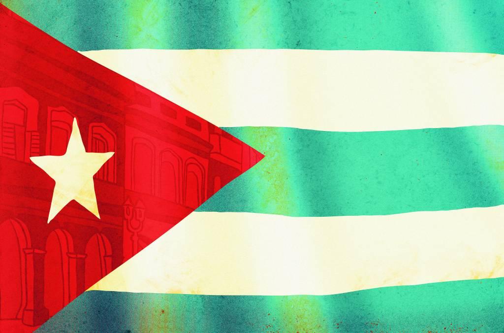 Bandeira de Cuba - ilustração de Daniel Vincent