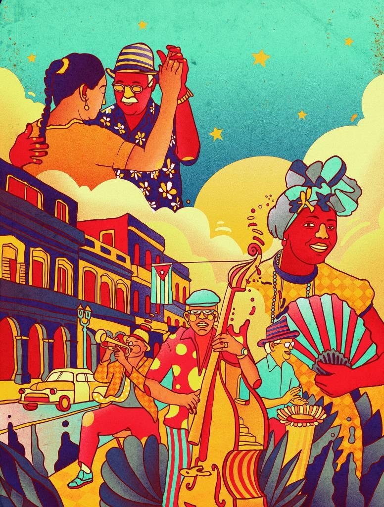 Cuba - ilustração de Daniel Vincent