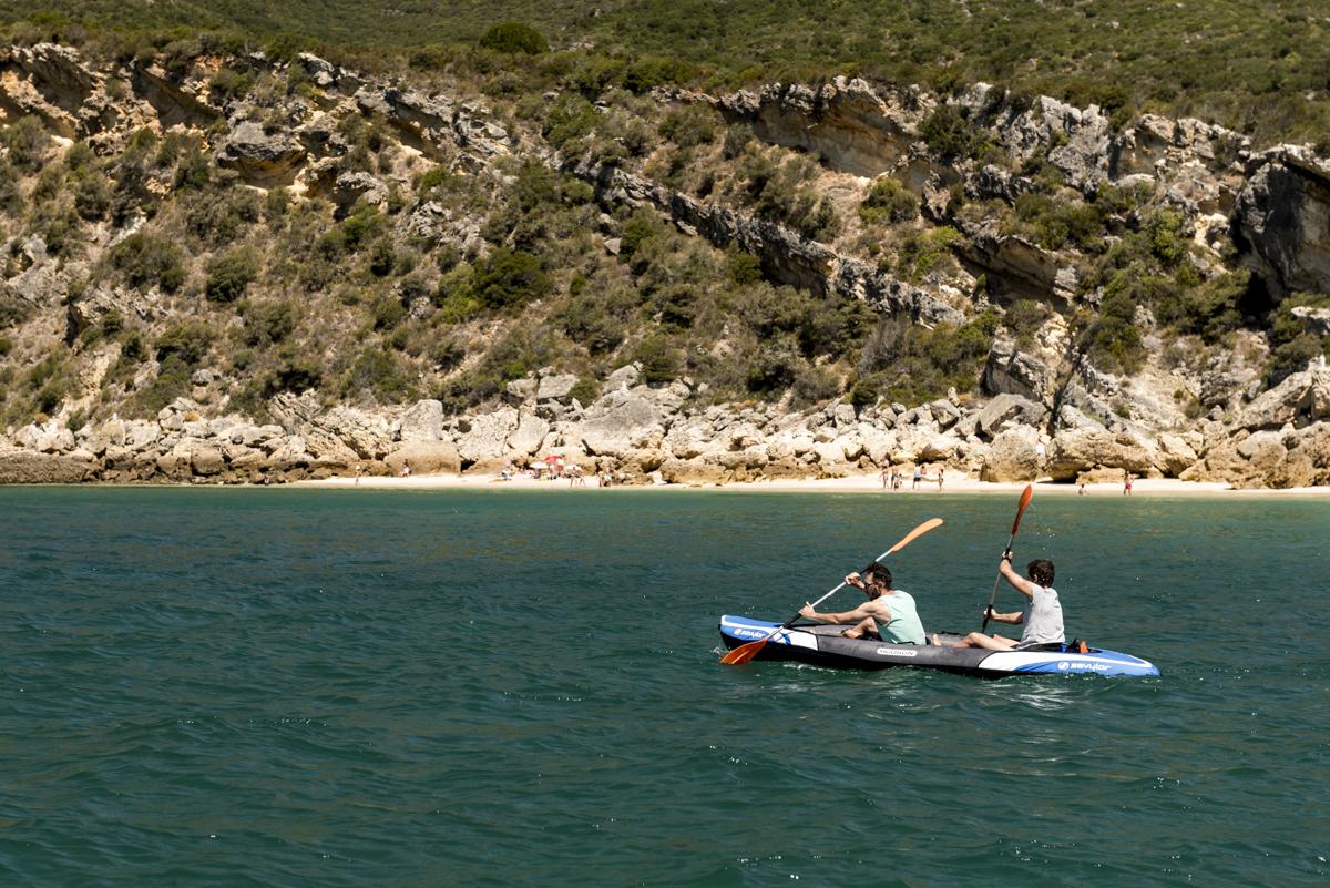 Passeio de caiaque: providencial nas águas calminhas