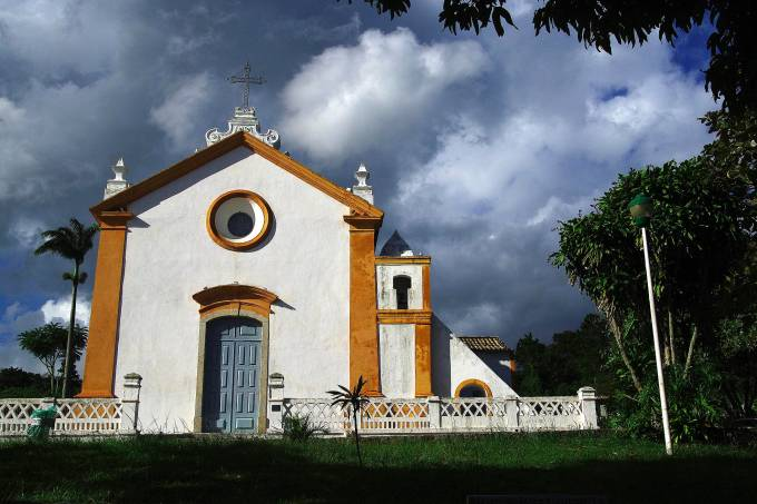 Igrejinha de Santo Antônio de Lisboa, em Florianópolis. Foto de Otávio Nogueira Flickr
