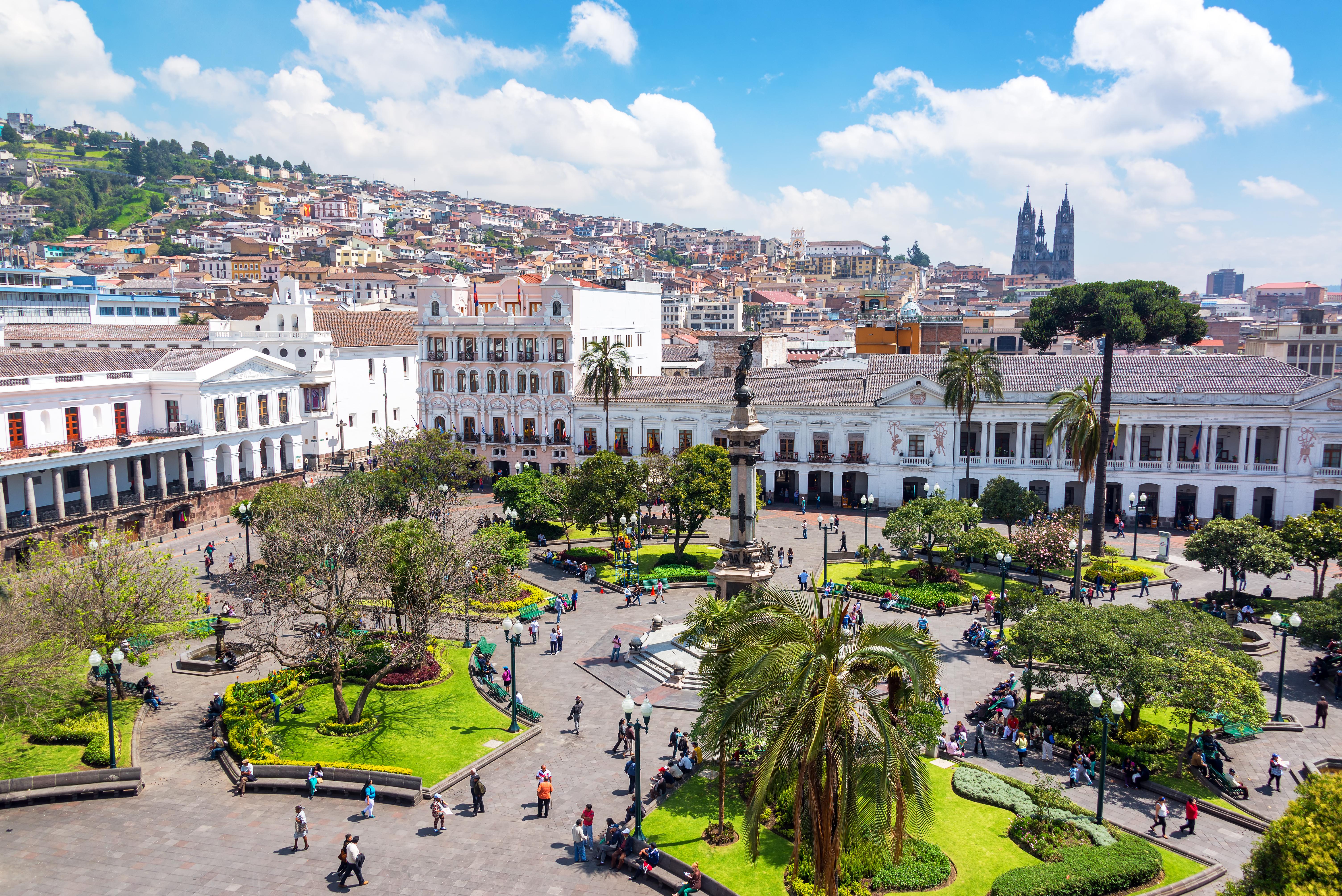 Plaza Grande em Quito capital do Equador
