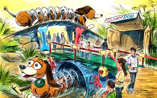 Montanha Russa Slinky Dog Dash, Disney