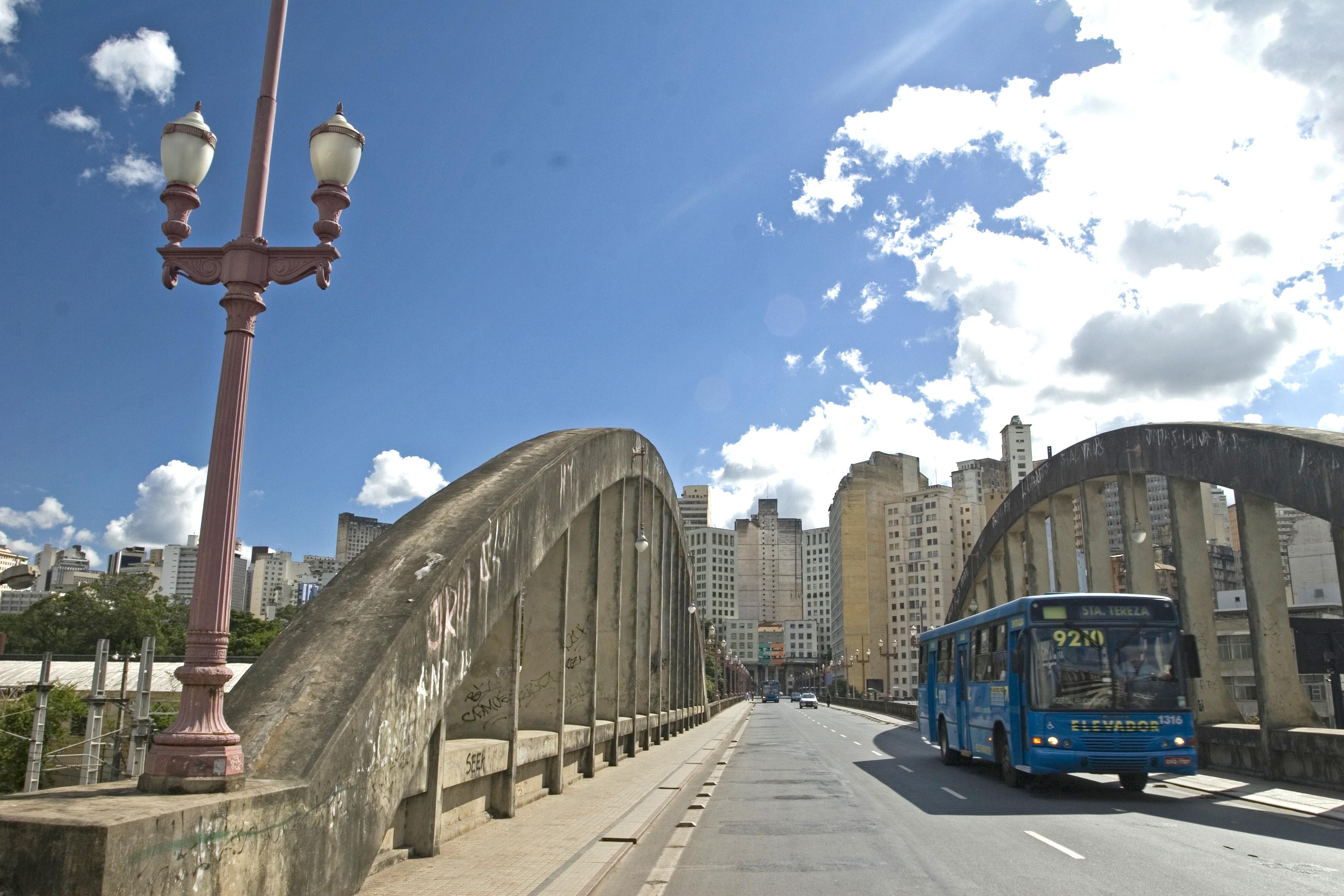 Viaduto Santa Tereza, no Bairro de Santa Tereza.