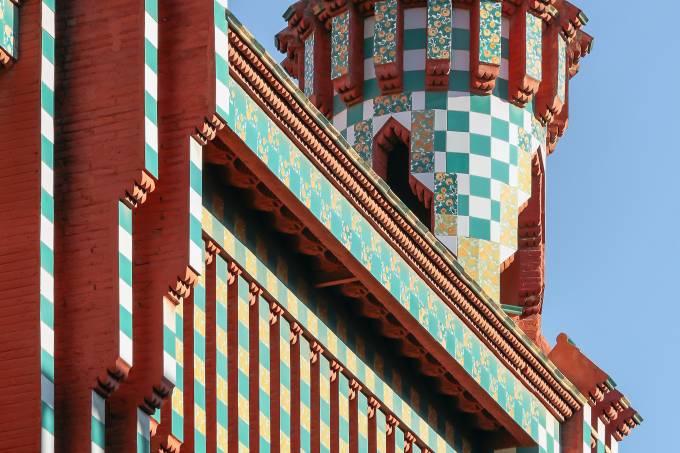 Casa Vicens de Gaudí em Barcelona, Espanha