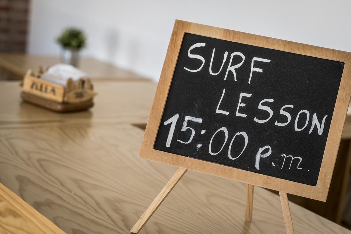 Aulas de surf disponíveis todos os dias (cobradas à parte)