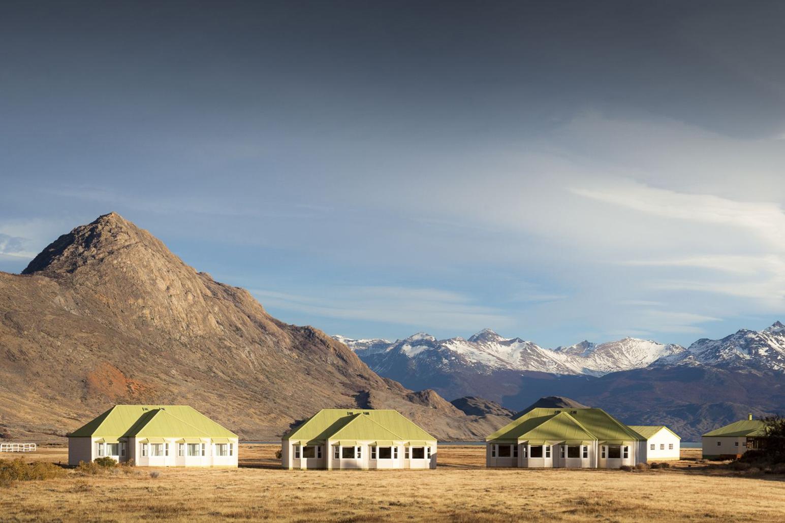 As cabanas no meio do nada da Estancia Cristina. Crédito: