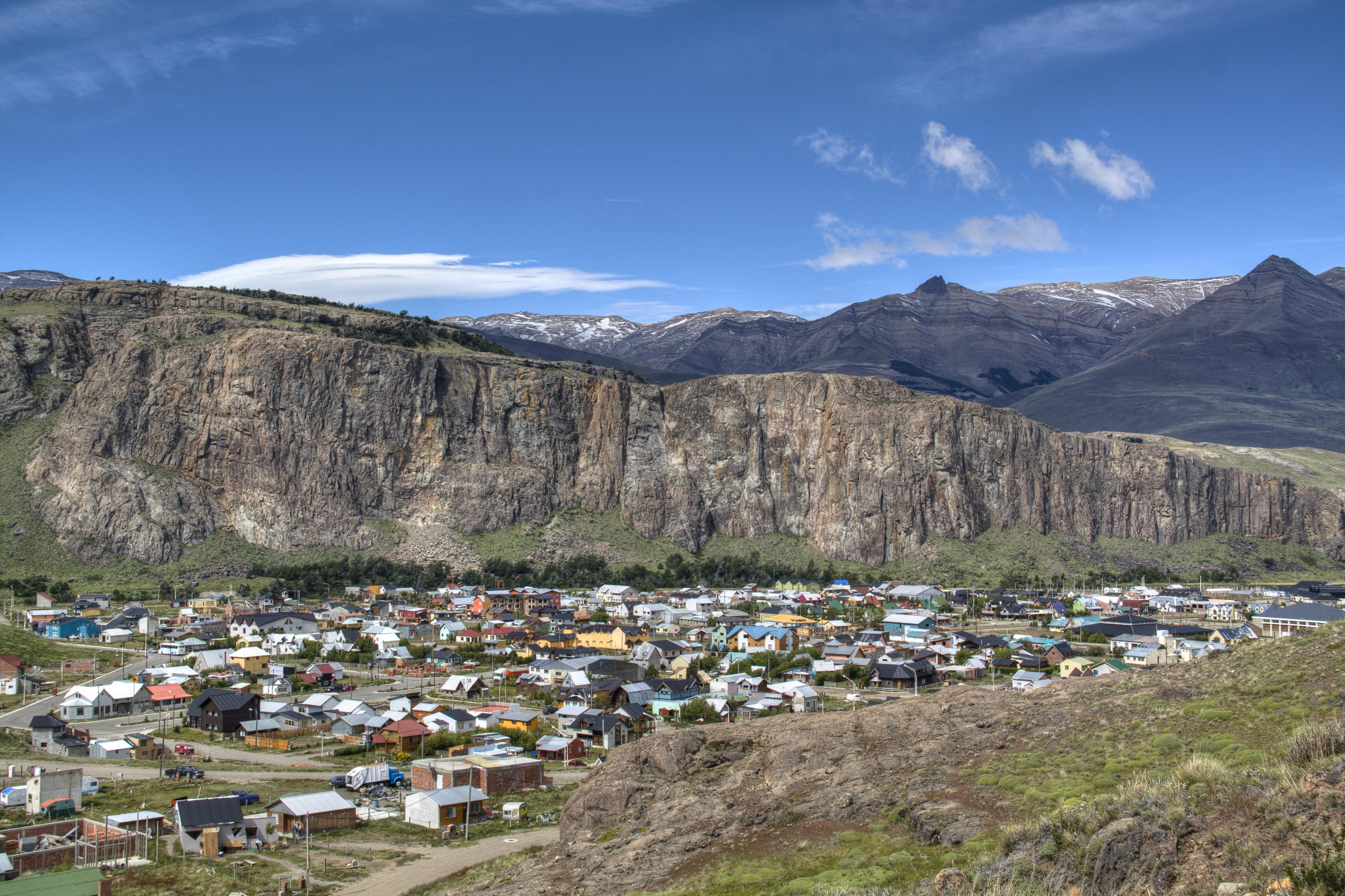 Vista da cidade de El Chaltén, na Argentina. Crédito: