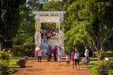 Rosedal, Parque 3 de Febrero, também conhecido como Bosques de Palermo, em Buenos Aires