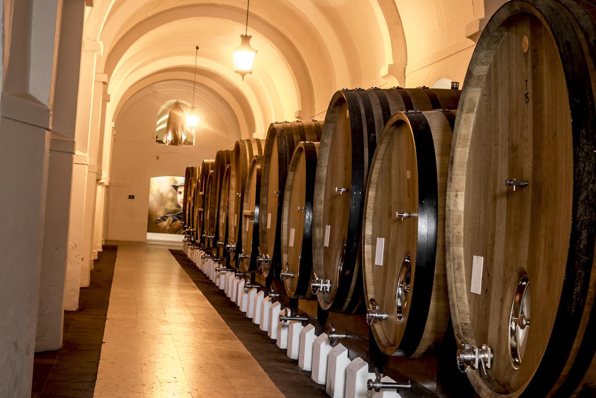 As instalações do edifício do século 16: séculos de história (e bons vinhos)