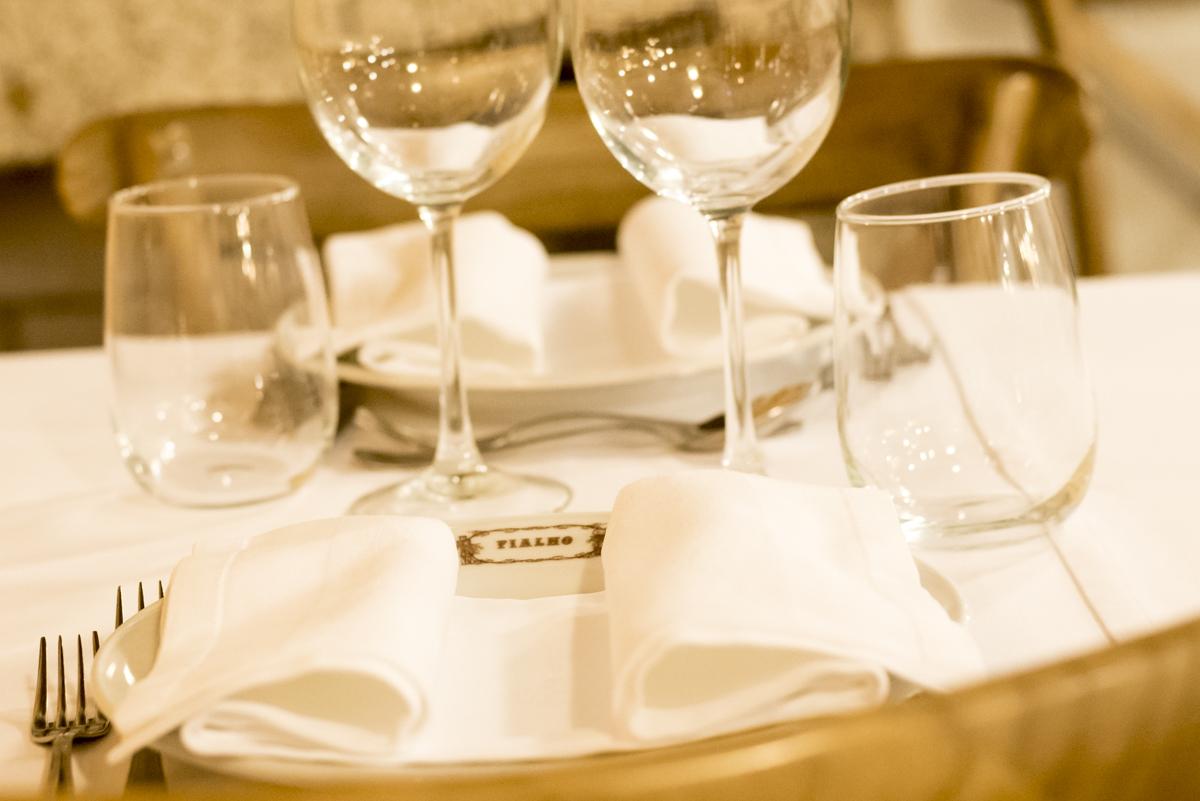Detalhe de uma das mesas