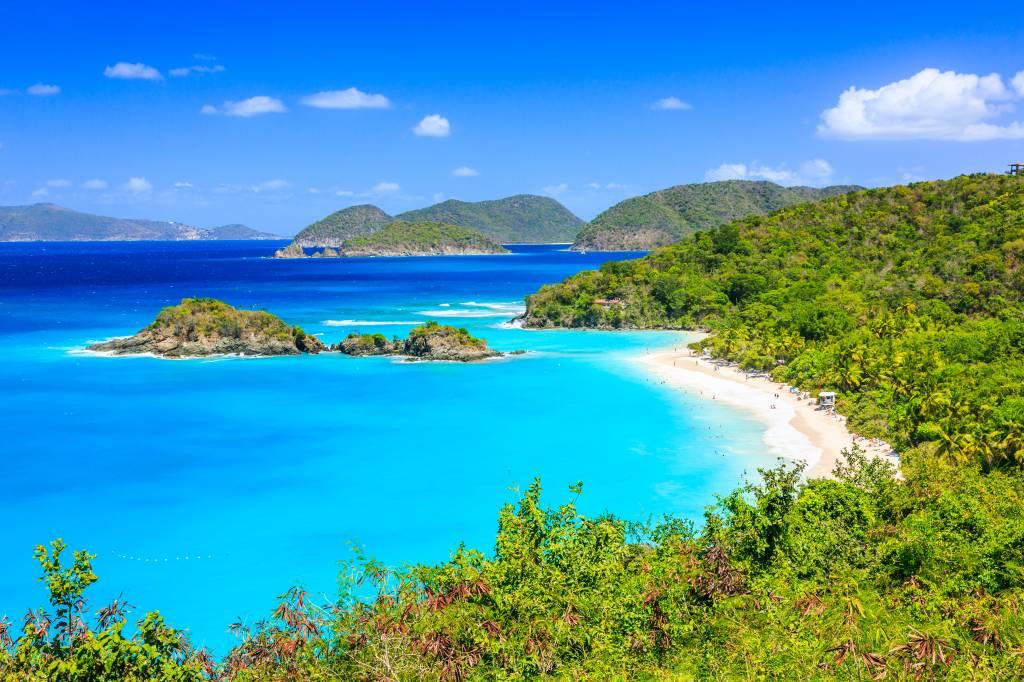 Trunk Bay, nas Ilhas Virgens Americanas