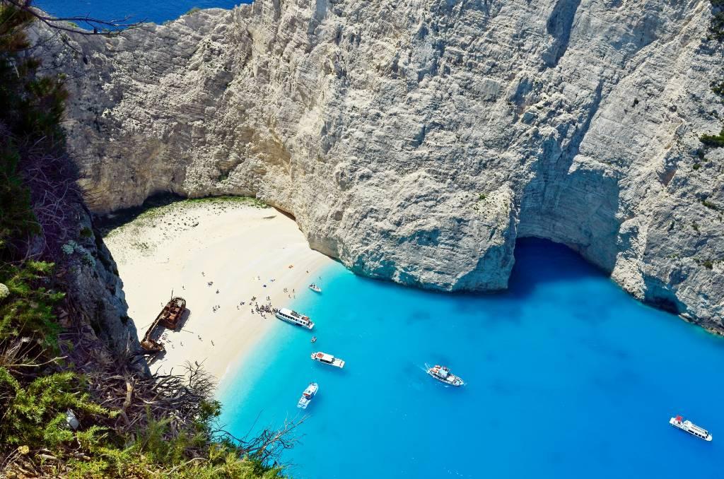 Navagio Beach, na Grécia