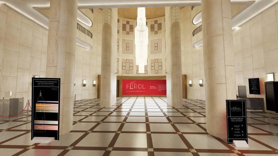 O lustre do hall chega a pesar 1,5 tonelada