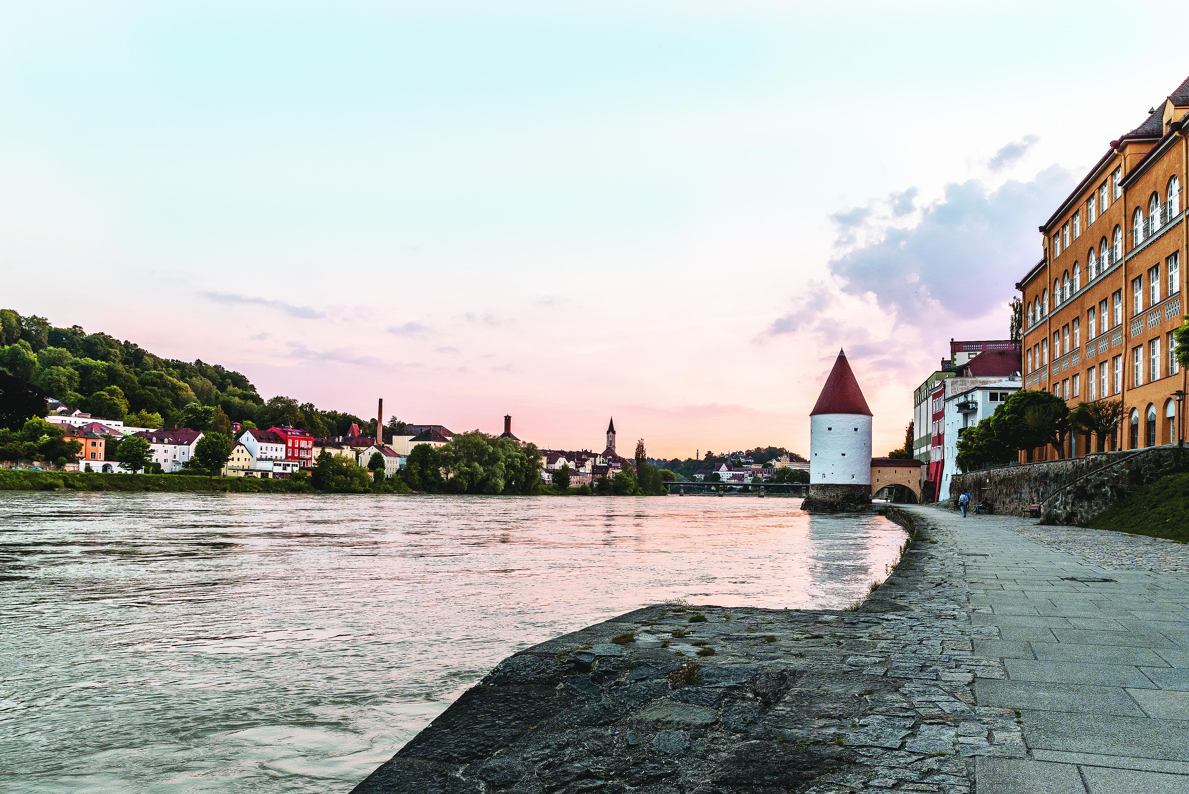 A beira-rio de Passau