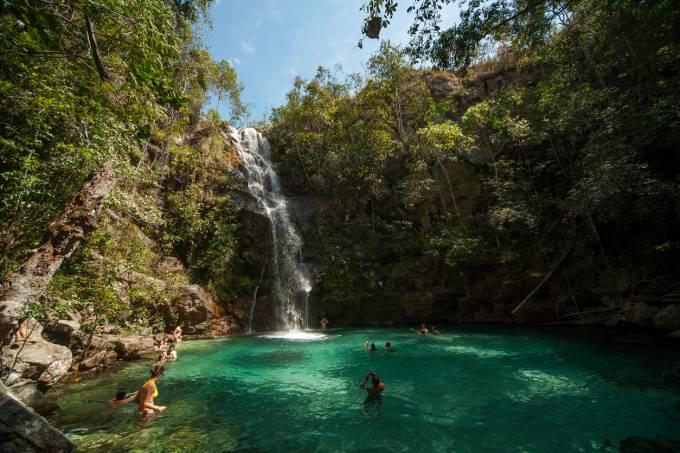 Cachoeira Santa Barbara, Goiás, Chapada dos Veadeiros, Cavalcante