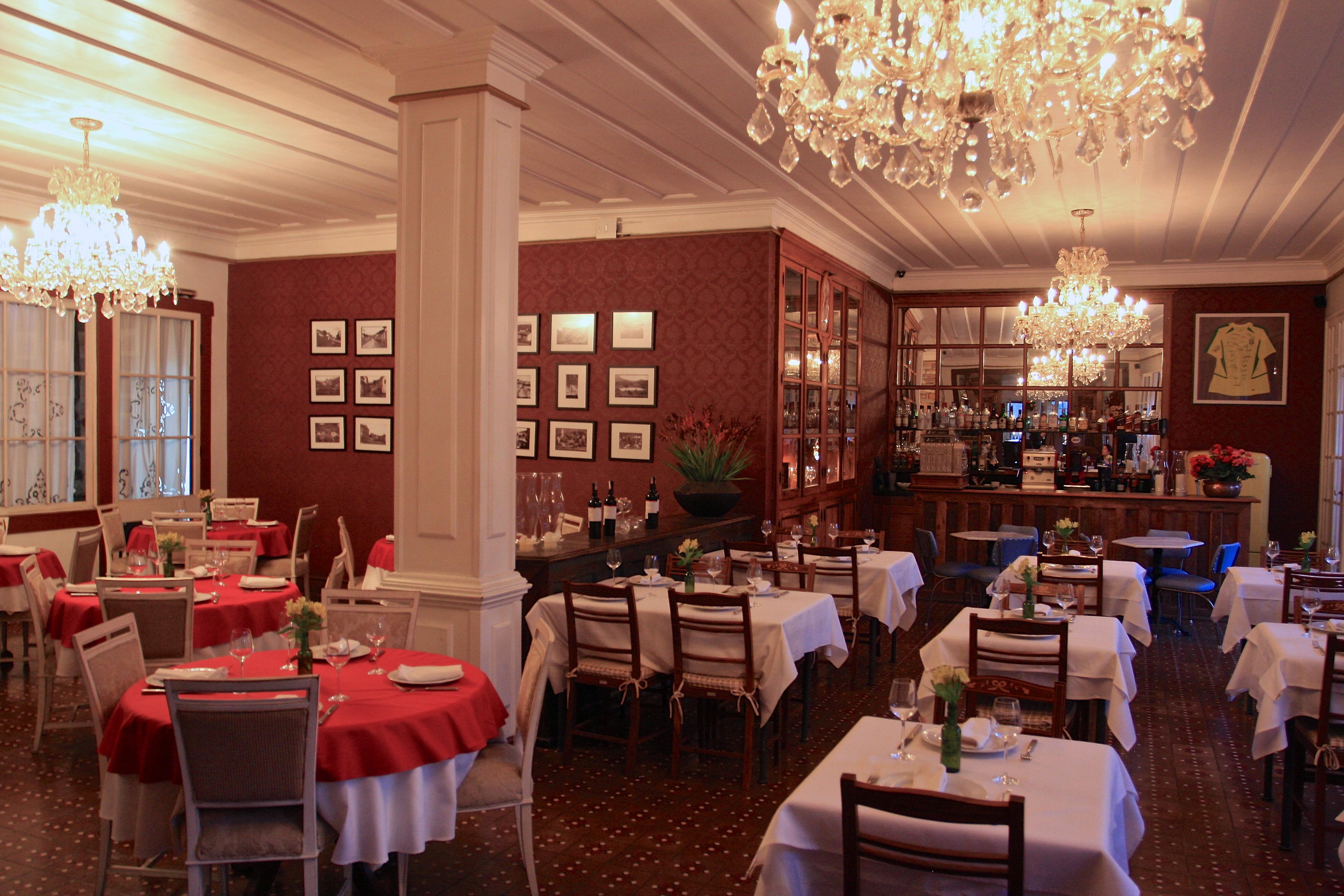 O belo salão do Senhora do Rosário, restaurante do hotel Solar do Rosário