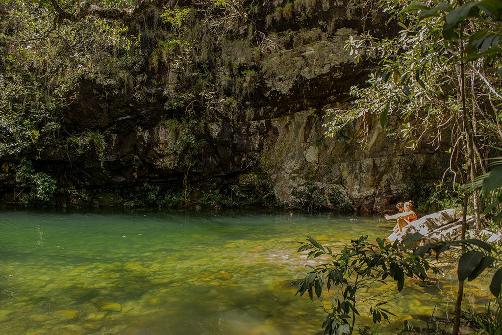 Quem resiste aos poços da Cachoeira Loquinhas, em Alto Paraíso de Goiás?