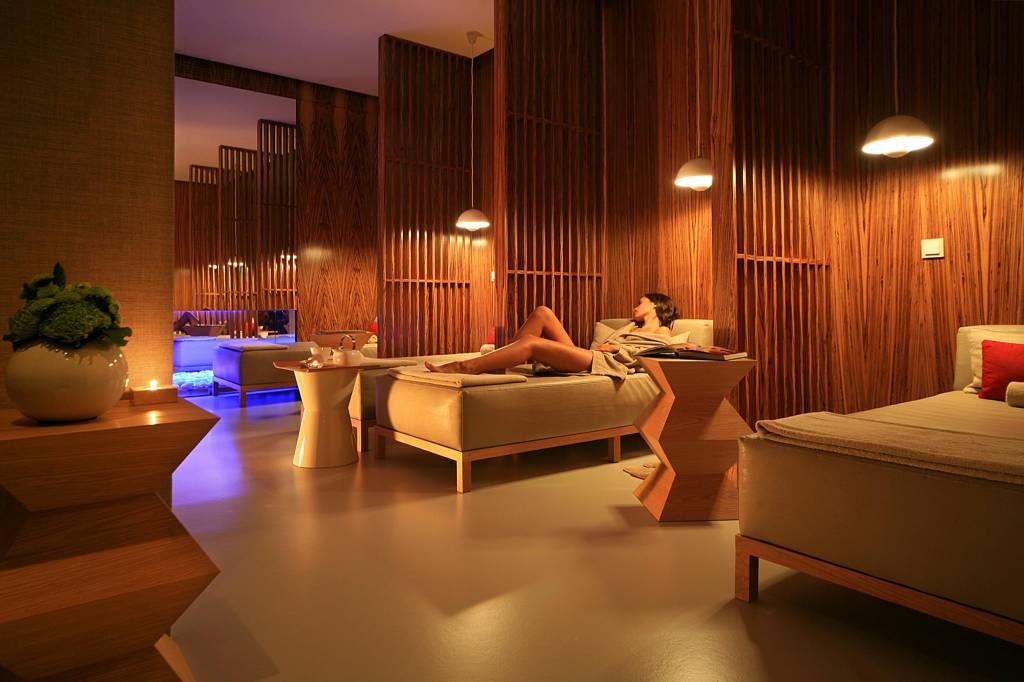Sala de relax: o melhor descanso pós-massagem, com direito a um chazinho para embalar o resto do dia