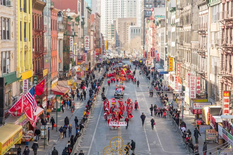 Desfile do Ano-Novo Chinês em Chinatown