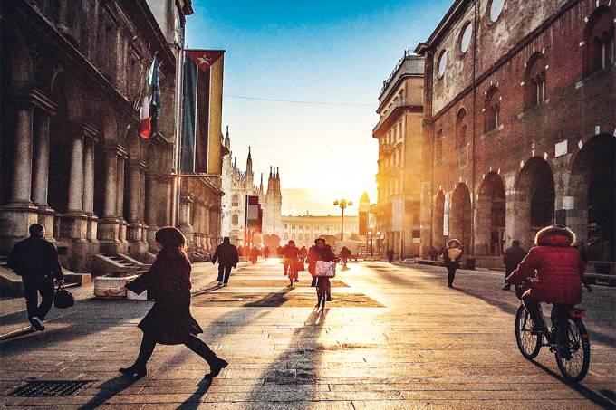 Arredores do Duomo de Milão, Itália