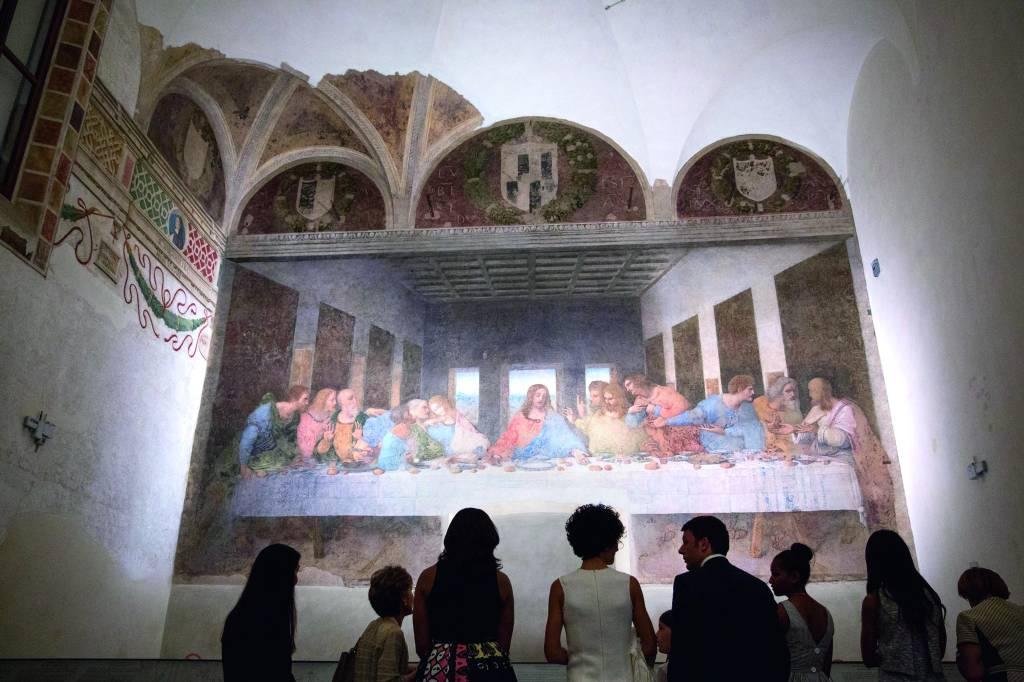 A Última Ceia, na Santa Maria delle Grazie, Milão, Itália