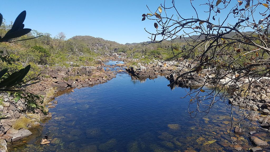 Um dos poços da trilha do Cãnion 2, dentro do Parque Nacional da Chapada dos Veadeiros