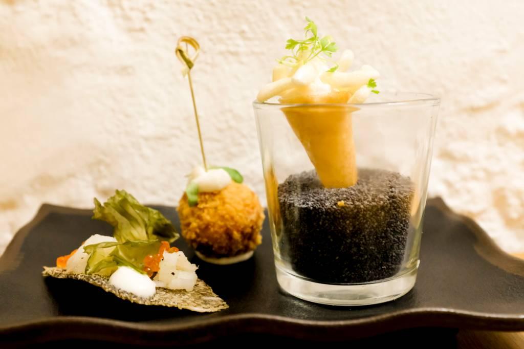 Degustação de Bacalhau: bela introdução ao menu