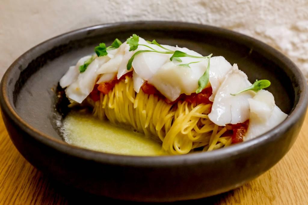 A massada de bacalhau, com lascas divinas do peixe
