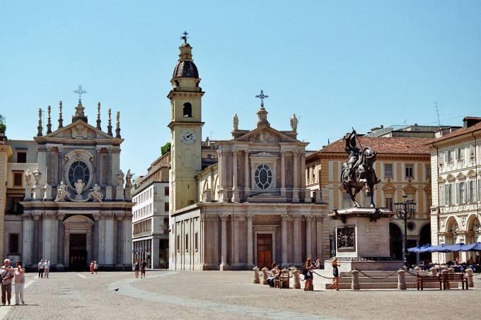 Piazza San Carlo, Turim, Piemonte, Itália