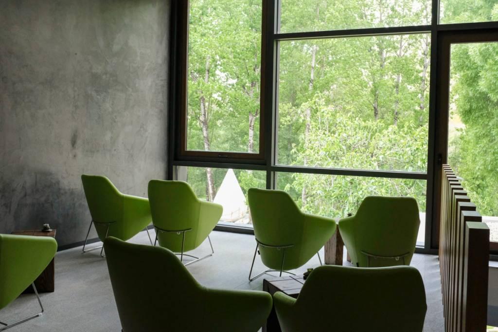 Sala pós-massagem: pausa para o chá